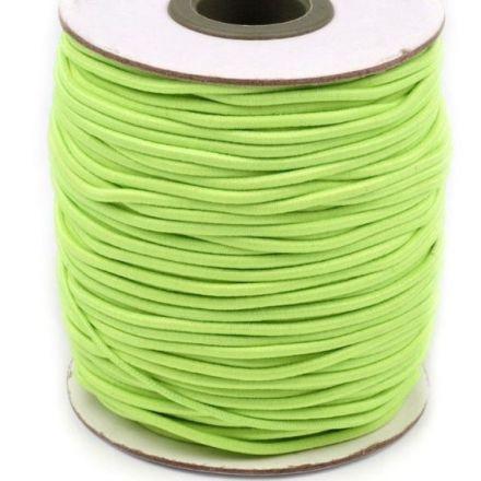 Galanterie: Kulatá pruženka 2 mm - zelená neon