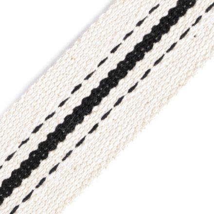 Galanterie: Bavlněný oboustranný popruh šíře 38 mm