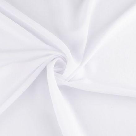 Metráž: Žoržet jednobarevný - bílá
