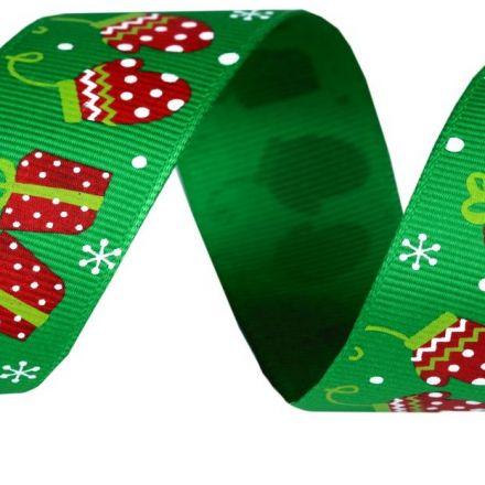 Galanterie: Vánoční rypsová stuha šíře 25 mm