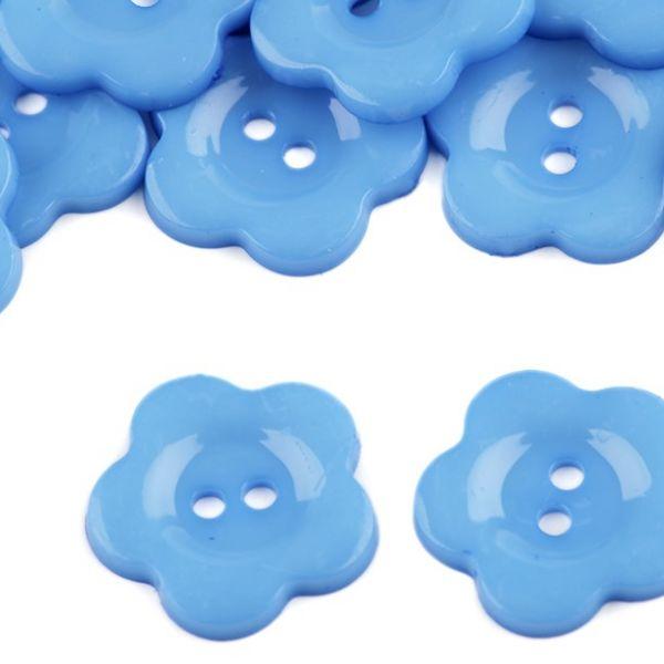 Knoflík plastový 22 mm (1ks) - modrá