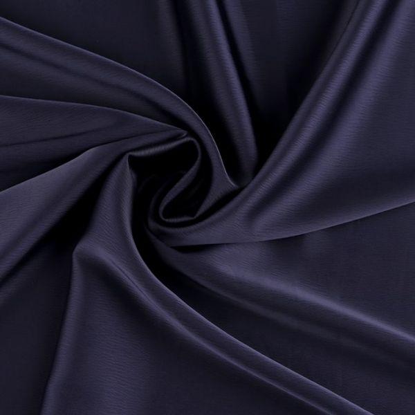 Krep satén šíře 150 cm - modrá