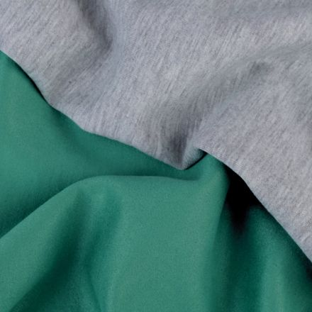 Metráž: Semiš podložený úpletem - zelená
