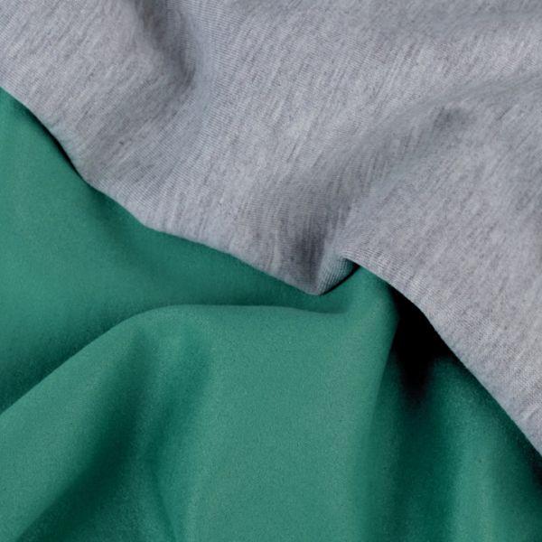 Semiš podložený úpletem - zelená
