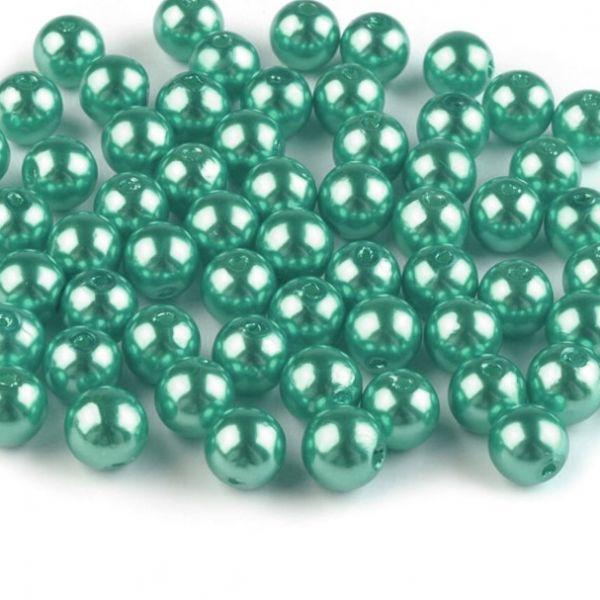 Plastové voskové korálky 8 mm (40ks) - mint
