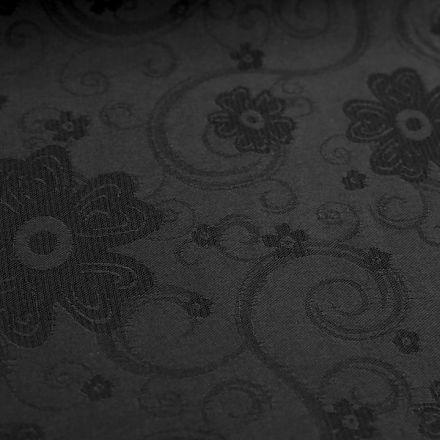 Metráž: Šatovka s ornamenty - černá