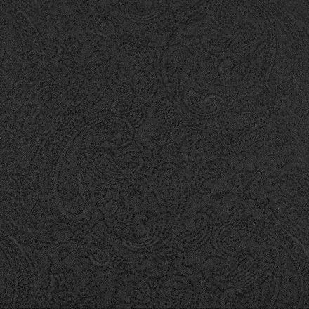 Metráž: Šatovka s kašmírovým vzorem - černá