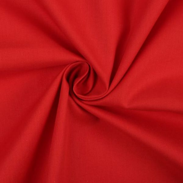 Bavlněná látka jednobarevná - červená