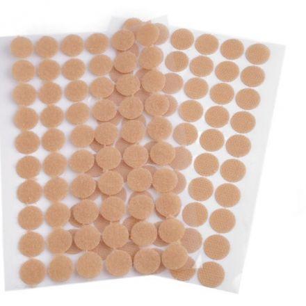 Galanterie: Suchý zip samolepicí kolečka 15 mm - béžová