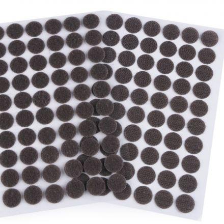 Galanterie: Suchý zip samolepicí kolečka 15 mm - tmavě šedá