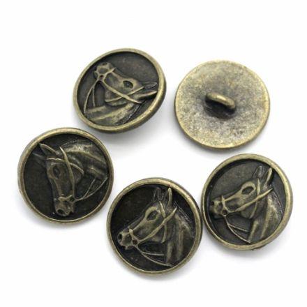 Galanterie: Knoflík kovový 15 mm