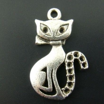 Galanterie: Přívěsek kočička 25 x 16 mm