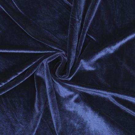 Metráž: Elastický samet - modrá