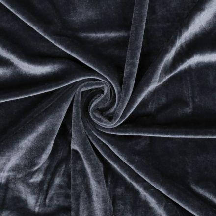 Metráž: Elastický samet - šedá