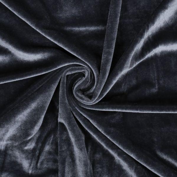Elastický samet - šedá