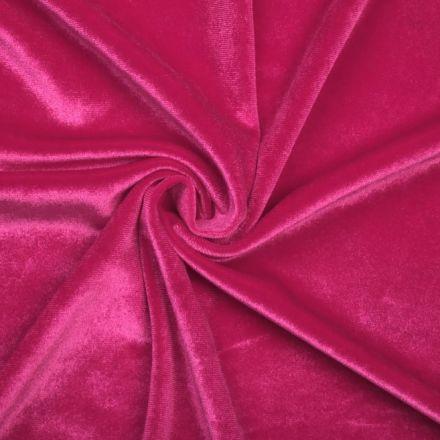 Metráž: Elastický samet - růžová
