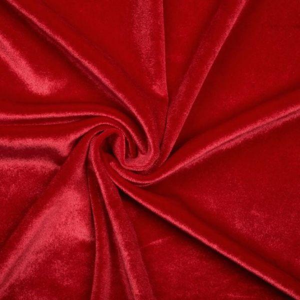 Elastický samet - červená