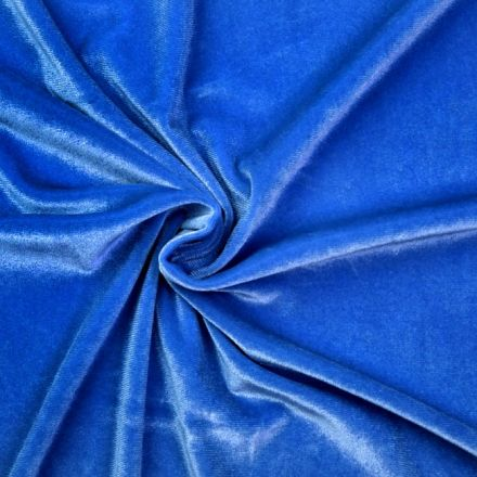 Metráž: Elastický samet - světle modrá