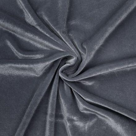Metráž: Elastický samet - modrošedá