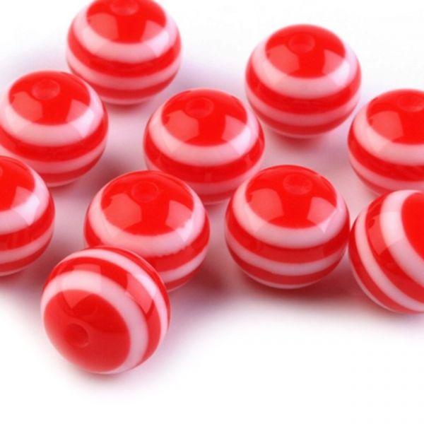 Plastové korálky 12mm (10ks) - červená