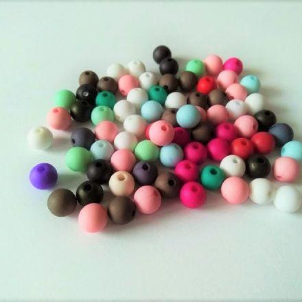 Galanterie: Plastové korálky 8 mm (50ks) - mix