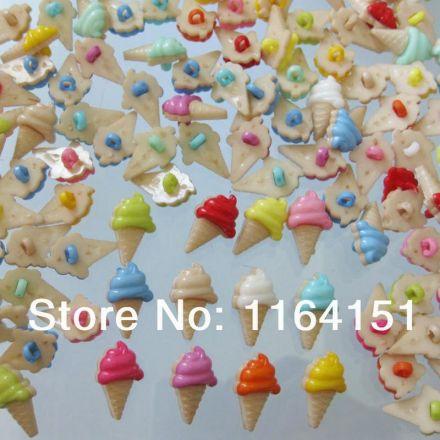Galanterie: Plastový knoflík 21,1 mm (5ks) - mix