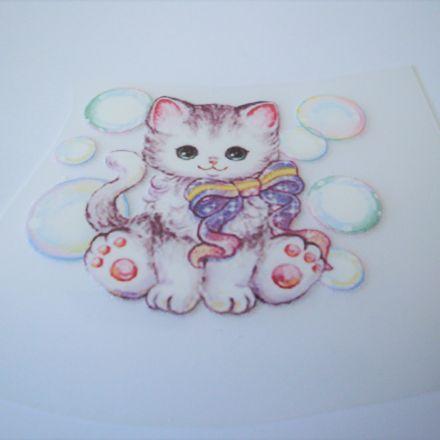 Galanterie: Nažehlovačka kočička 68 x 55 mm