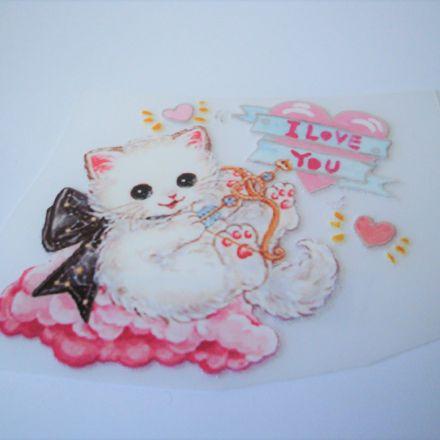 Galanterie: Nažehlovačka kočička 70 x 62 mm