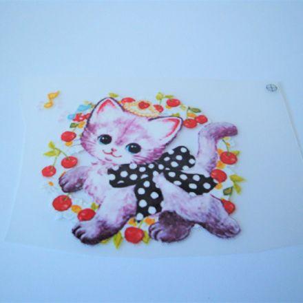 Galanterie: Nažehlovačka kočička 65 x 60 mm