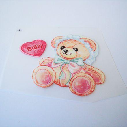 Galanterie: Nažehlovačka medvídek 60 x 55 mm