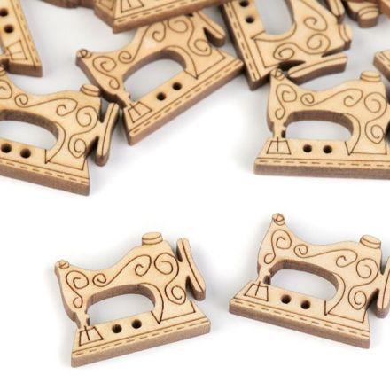 Galanterie: Dřevěný knoflík 17 x 22 mm (1ks)