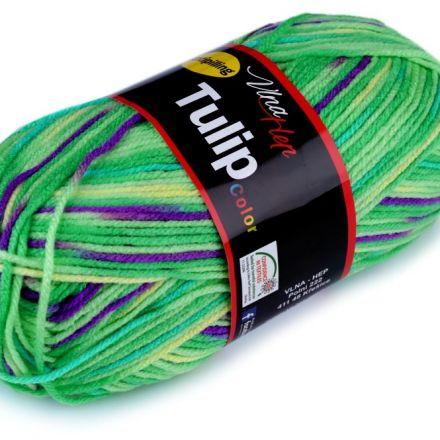 Galanterie: Pletací příze Tulip color (100g) - zelená