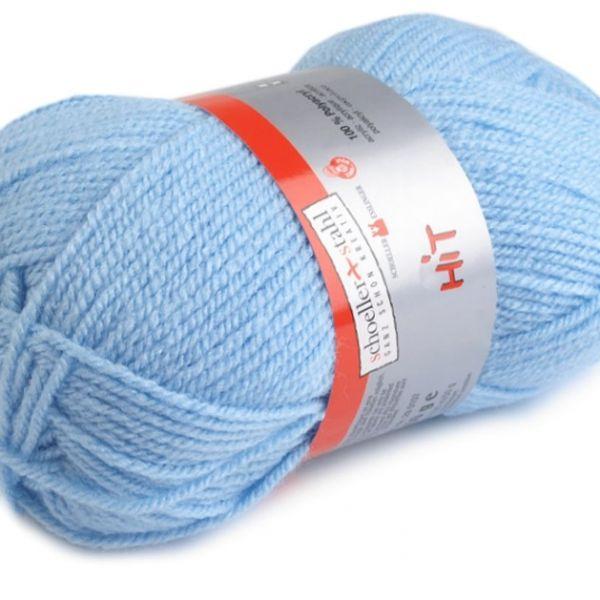 Pletací příze Hit (50 g) - světle modrá