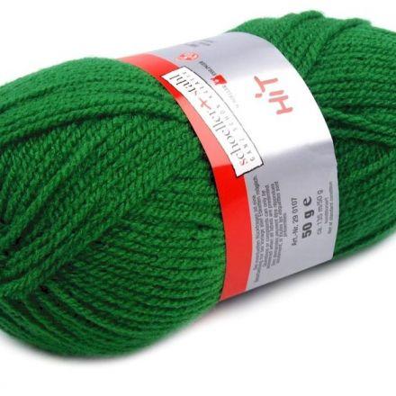 Galanterie: Pletací příze Hit (50 g) - zelená