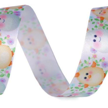 Galanterie: Saténová stuha Velikonoce šíře 20 mm (1m)