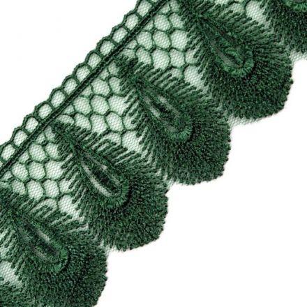 Galanterie: Krajka na tylu šíře 50 mm (1m) - zelená