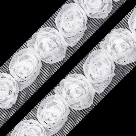 Galanterie: Prýmek na tylu šíře 20 mm (1m) - bílá