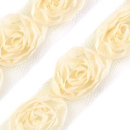 Galanterie: Prýmek na tylu šíře 20 mm (1m) - vanilka
