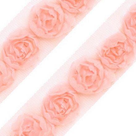 Galanterie: Prýmek na tylu šíře 20 mm (1m) - pudrová