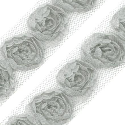 Galanterie: Prýmek na tylu šíře 20 mm (1m) - šedá