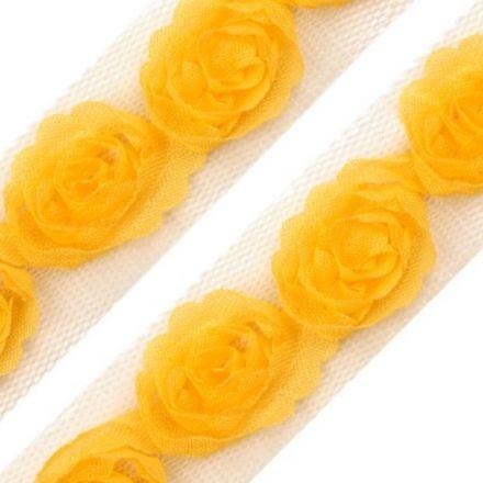 Galanterie: Prýmek na tylu šíře 20 mm (1m) - žlutá