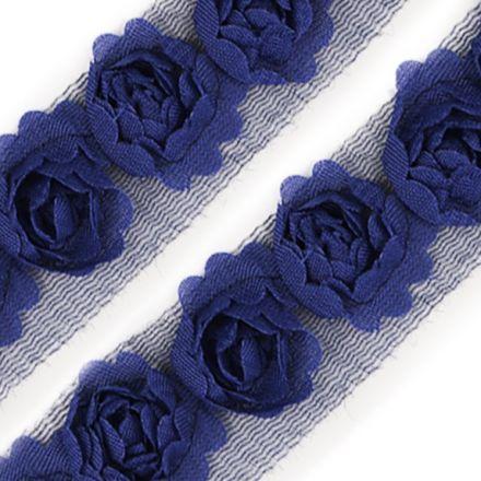Galanterie: Prýmek na tylu šíře 20 mm (1m) - modrá