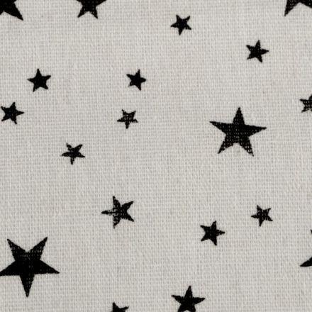 Metráž: Bavlněná metráž / imitace lnu - hvězda