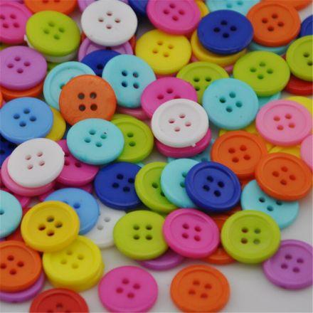 Galanterie: Plastové knoflíky 15 mm (10ks) - mix