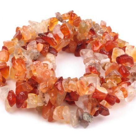 Galanterie: Minerálové zlomky Karneol (84 - 90 cm)