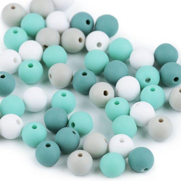 Plastové korálky 8 mm (40ks) - mix