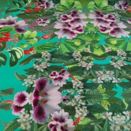 Metráž: Šatovka květovaná scuba