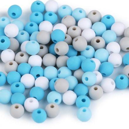 Galanterie: Plastové korálky 6mm (100ks) - mix