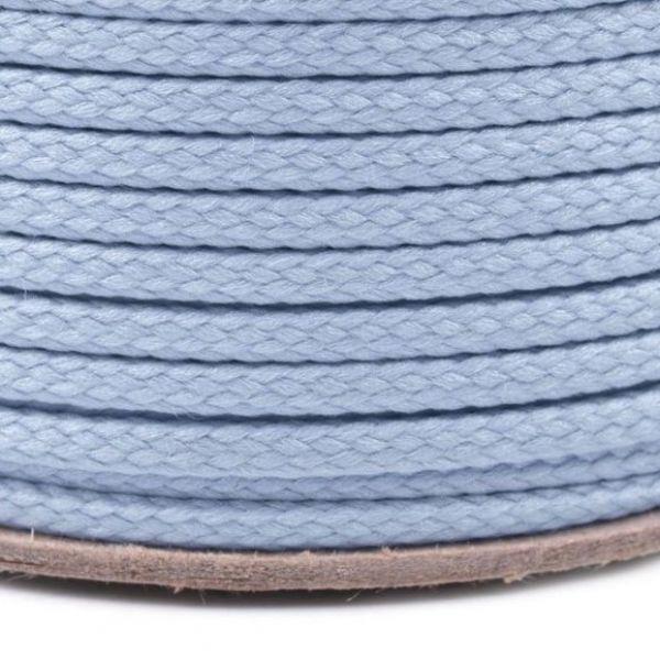Oděvní šňůra PES 2 mm - světle modrá