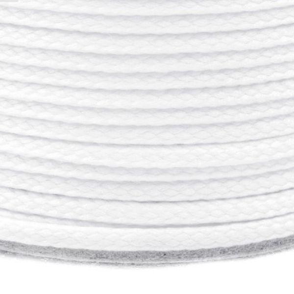 Oděvní šňůra PES 2 mm - světle bílá
